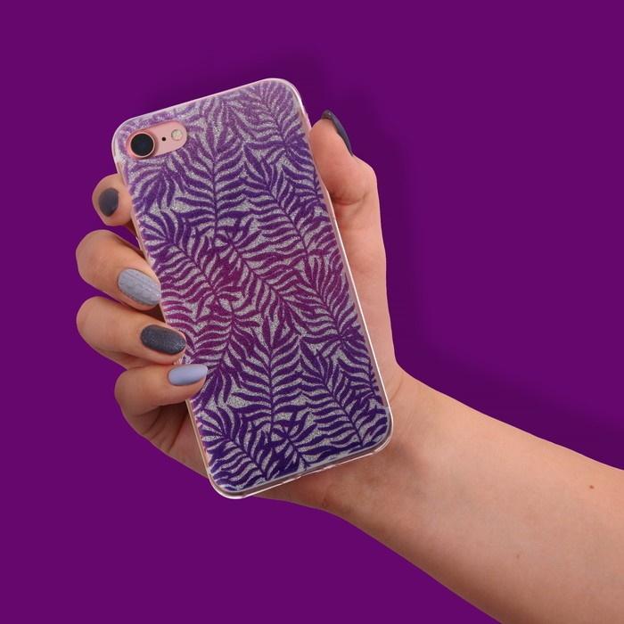 Чехол-накладка для телефона iPhone 7 «Папоротник», цвет: фиолетовый фото