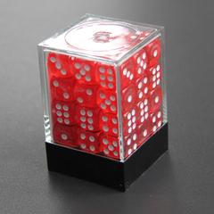 Набор шестигранных кубиков прозрачный красный (36 штук)