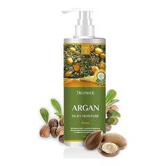 Deoproce Argan Silry Moisture Rinse - Бальзам для волос с аргановым маслом