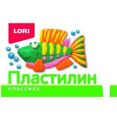 Plastilin Lori 12 rəng, 12qr bıçaqla