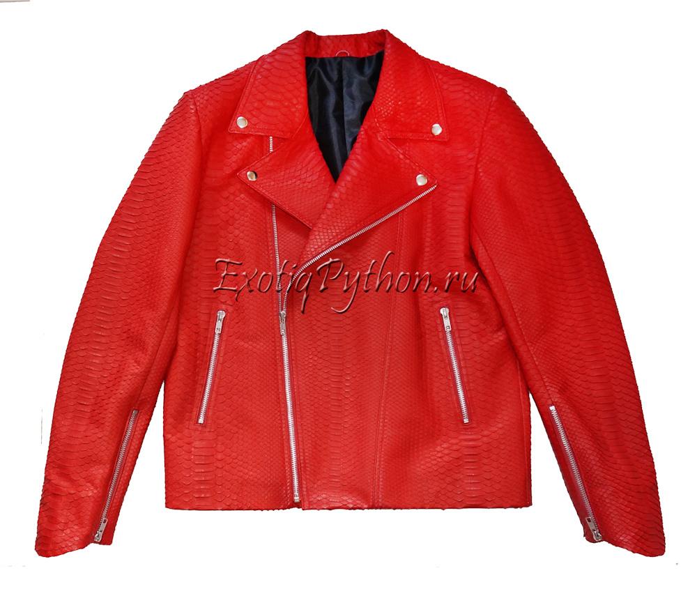 Куртка из кожи питона JT-7