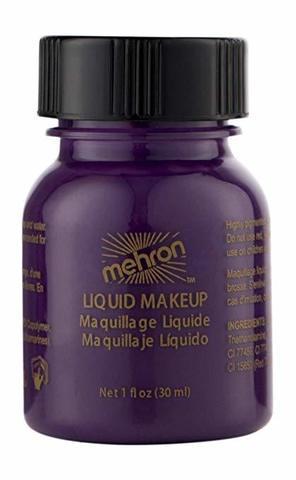 MEHRON Жидкий грим Liquid Makeup, Purple (Пурпурный), 30 мл