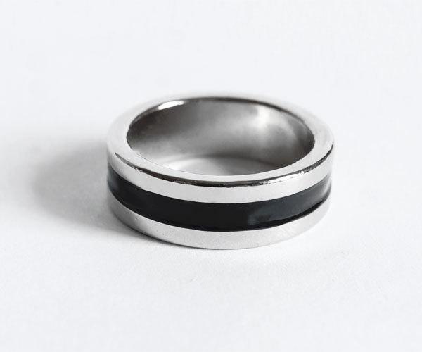 Кольцо для фокусов с полосой магнитное