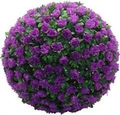 Светильник уличный светодиодный на солнечной батарее Feron «Цветочный шар», фиолетовый