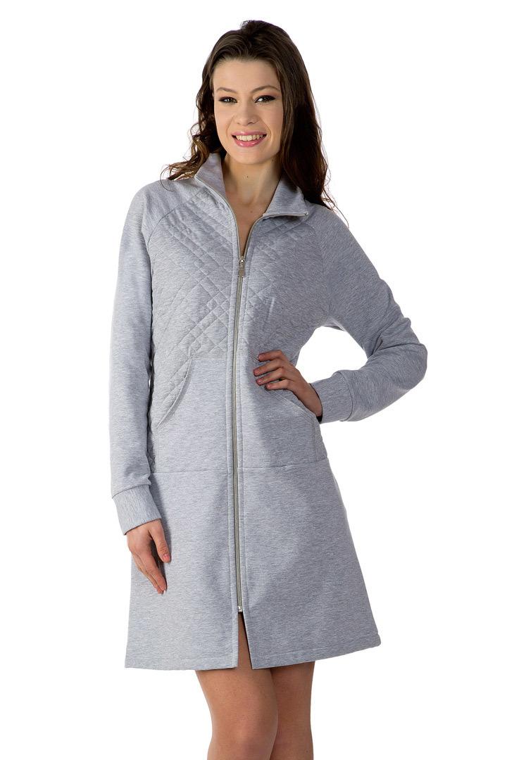 Теплый халат на молнии DolceVita