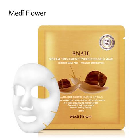 Маска интенсивная с экстрактом улитки - Special Treatment Energizing Mask Pack (Snail) Medi Flower