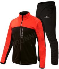 Утеплённый лыжный костюм Nordski Active Base Red-Black 2020 мужской