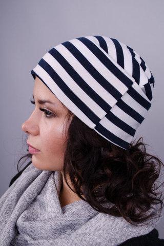Фэшн. Молодёжные женские шапки. Полоска.