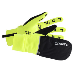 Перчатки Craft Hybrid Weather black-lime