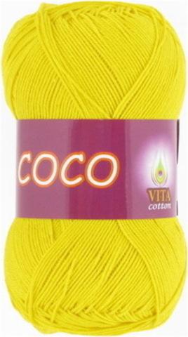 Пряжа Coco (Vita cotton) 4320 Ярко-желтый
