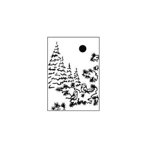 Папка для тиснения Nellie's Choice Picture Embossing Folder- Snow Birds