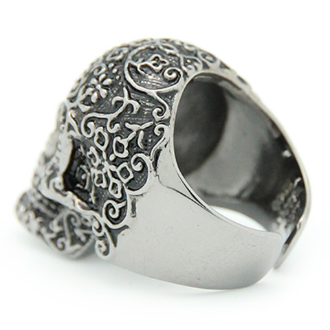 Кольцо Череп Филигранный (черный)