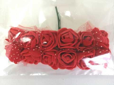 Букет розочек из фоамирана, цвет красный.