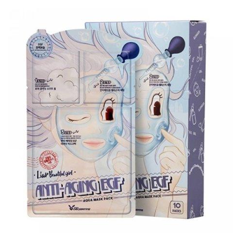 Трехшаговый омолаживающий набор для лица Elizavecca Anti-Aging EGF Aqua Mask Pack