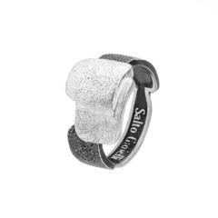 Кольцо Salto Gioielli ГЕОМЕТРИЯ Серебряное с чернением