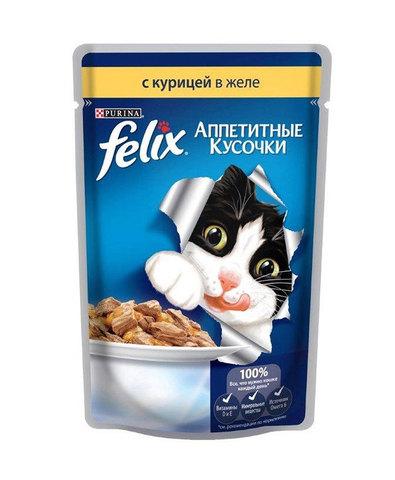 Felix кусочки в желе для кошек с курицей 85 г