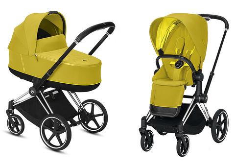 Детская коляска Cybex Priam III 2 в 1 Mustard Yellow шасси Matt Black