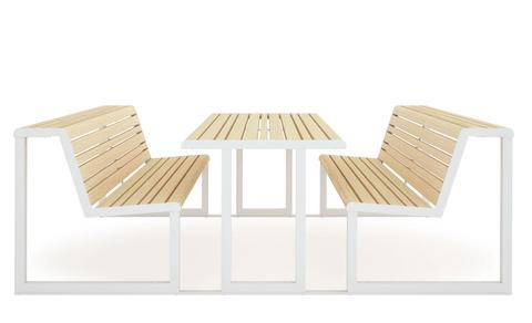 Table + Integrated Benches .h24