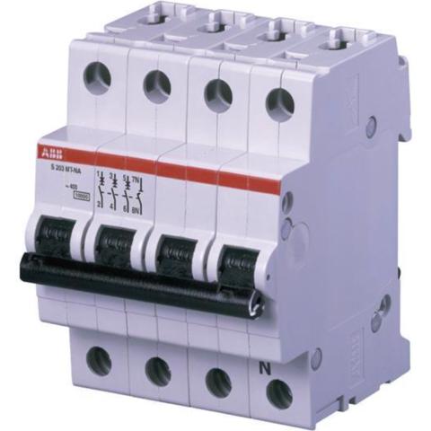 Автоматический выключатель 3-полюсный с нулём 50 А, тип D, 10 кА S203MT-D50NA. ABB. 2CDS273106R0501