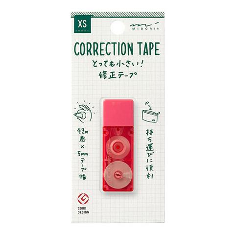 Ленточный штрих-корректор Midori XS Correction Tape (розовый)