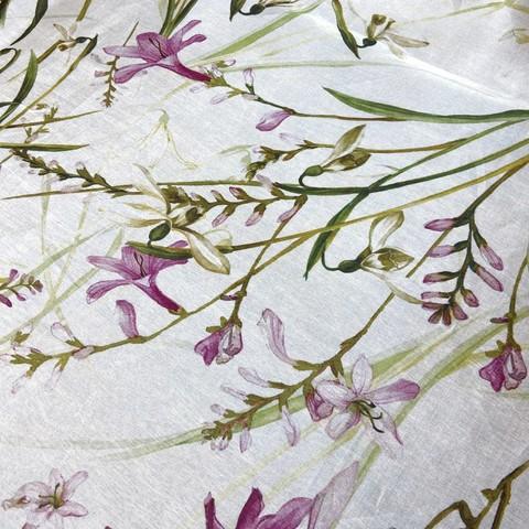 органза шелковая с мелкими цветами фото