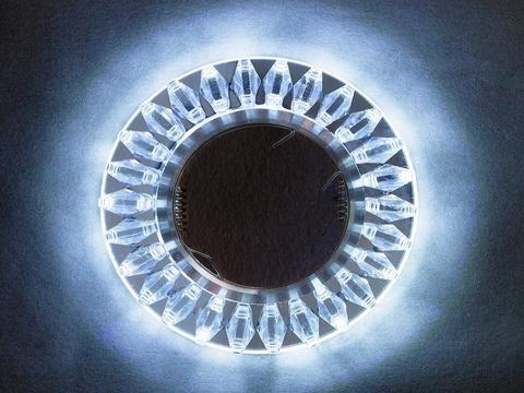 Светильник встраиваемый 1684-3W-SR/RGB Хром/Многоцветный+Диодная подсветка