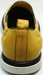 Кэжуал мужские туфли на лето King West 053-1022 Yellow-White.