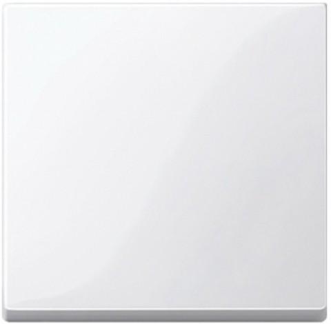 Выключатель одноклавишный клавишный. Цвет Полярно-белый, блестящий. Merten. MTN3111-0000+MTN432119