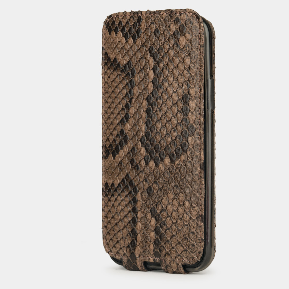 Чехол для iPhone 11 Pro Max из натуральной кожи питона, бежевого цвета