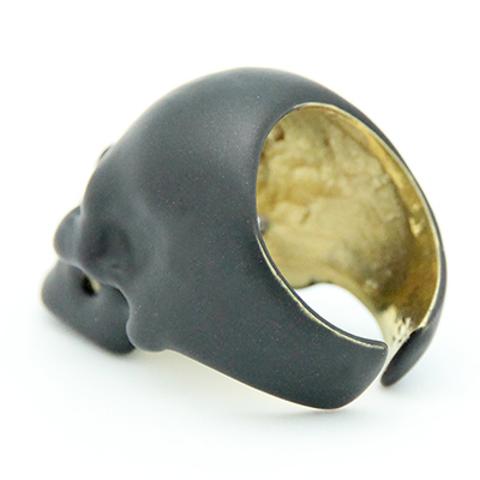 Кольцо Череп (черный матовый)