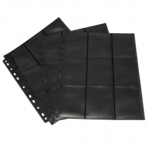Упаковка листов двусторонний с кармашками 3х3 с боковой загрузкой - Blackfire (чёрный)