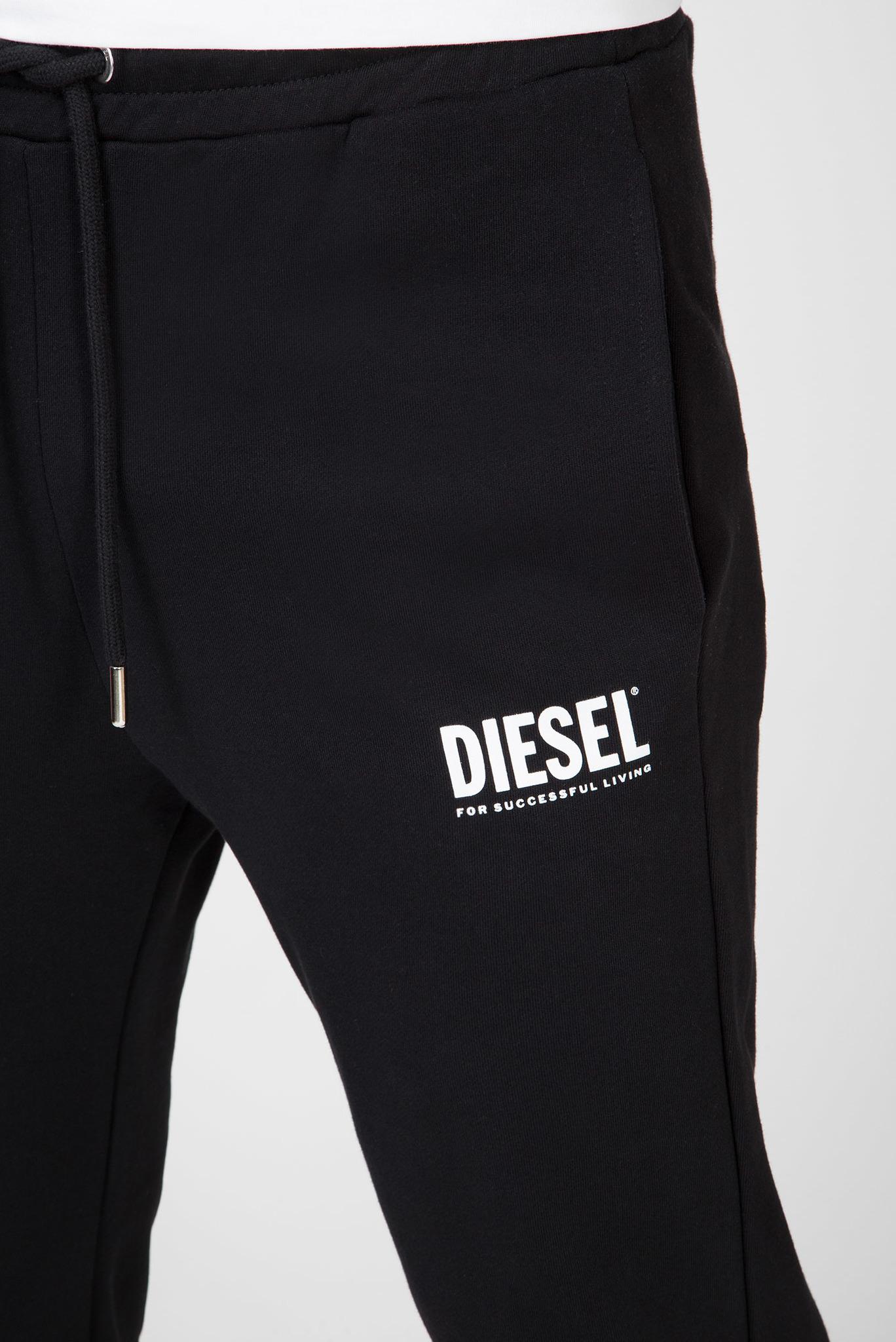 Мужские черные спортивные брюки P-TARY-LOGO Diesel