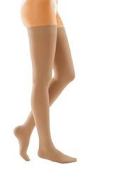 Чулки с силиконовой резинкой закрытый носок duomed