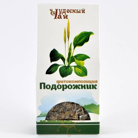 Подорожник листья сушеные Чудесный чай, 50г