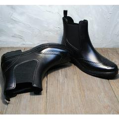 Резиновые ботинки челси женские W9072Black