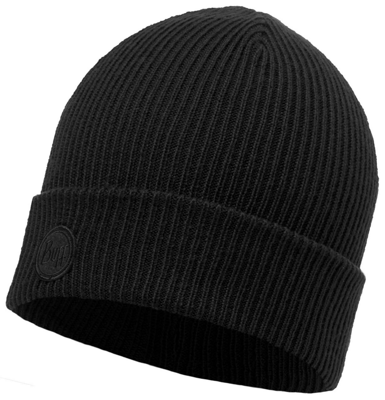 Шапки с отворотом Вязаная шапка Buff Edsel Black 116027.999.10.00.jpg