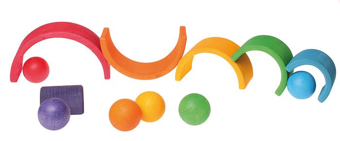 6 деревянных шаров