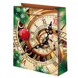 Новогодний подарочный пакет Часы (большой)