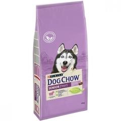 Сухой корм для собак старше 9 лет, Purina Dog Chow Senior, с ягнёнком