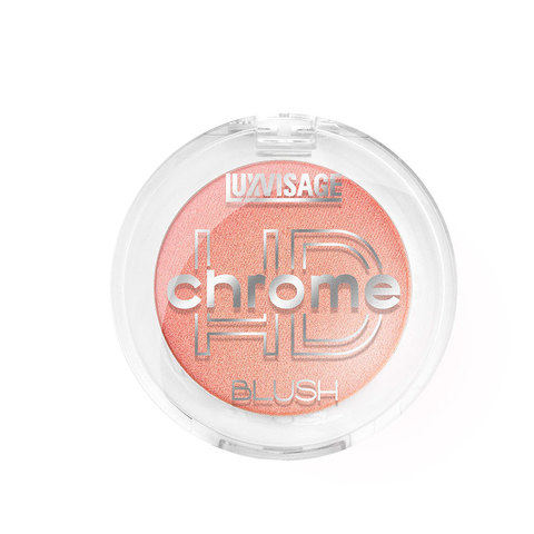 LuxVisage HD Chrome Румяна для лица тон 102 (Золотистый персик)