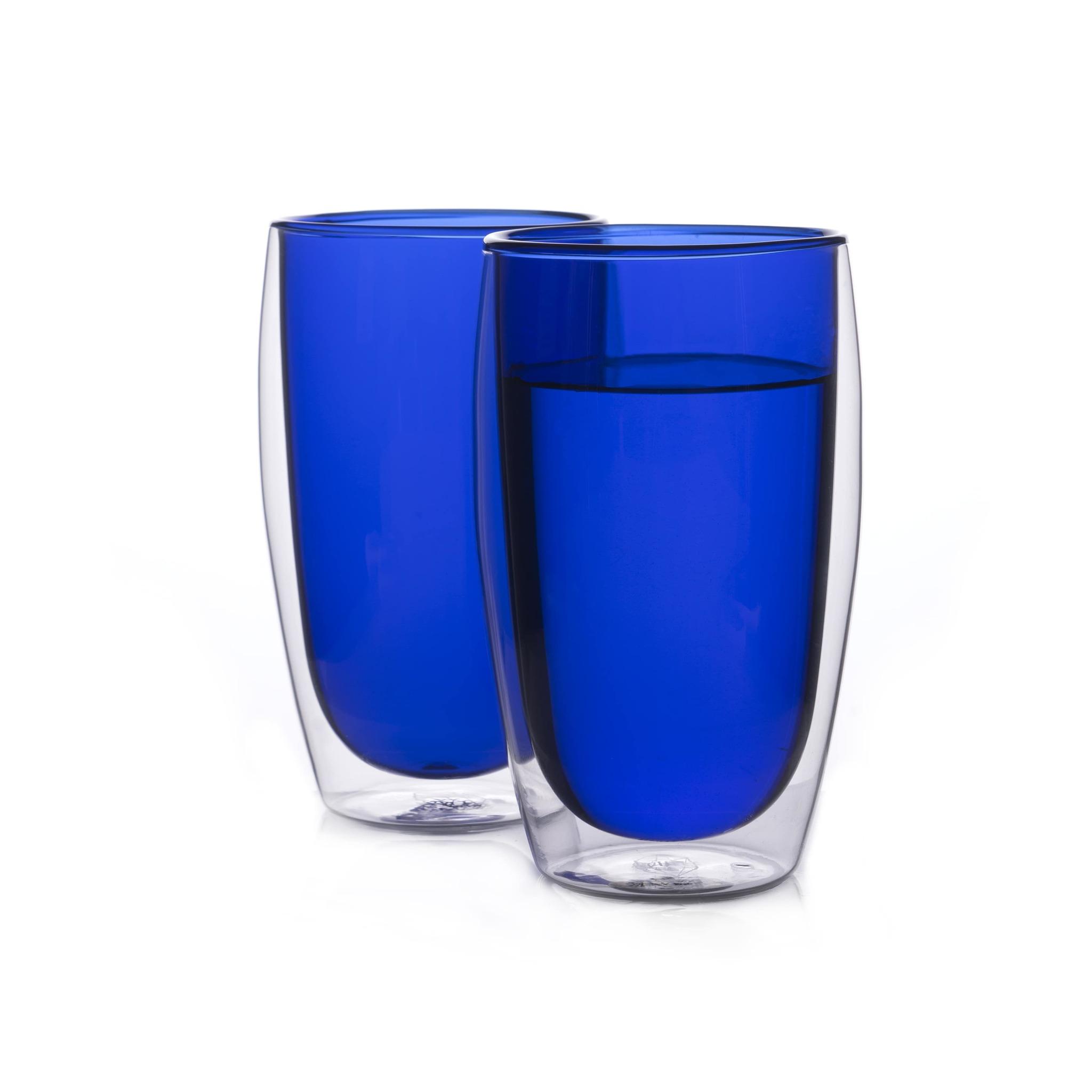 Наборы-Акции Набор стаканов из двойного стекла синего цвета 450 мл, 2 шт. синий1-min.jpg