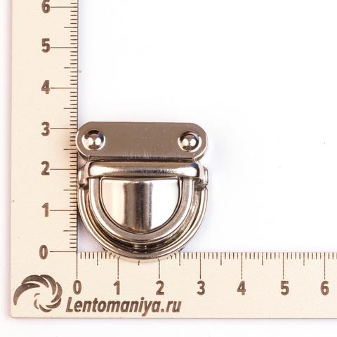 Портфельный замок маленький (серебро) для вязаных клапанов
