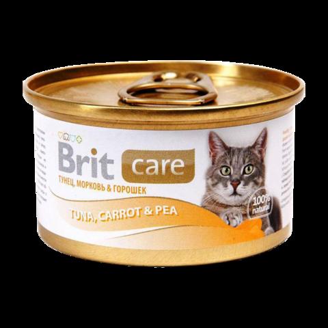 Brit Care Cat Консервы для кошек с тунцом, морковью и горошком