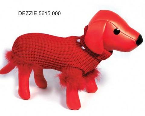 5615002 DEZZIE Свитер д/собак вязанный красный, 30см