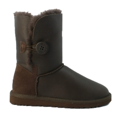 UGG Kids Bailey Button Metallic Chocolate