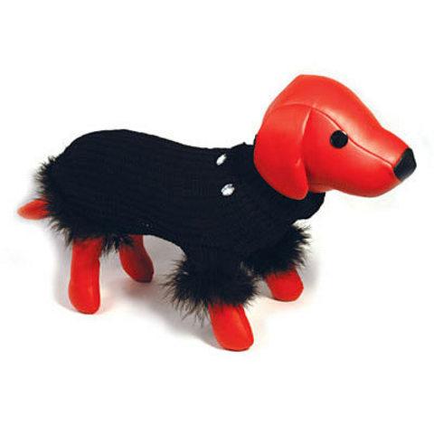 5615004 DEZZIE Свитер д/собак вязанный черный, 20см
