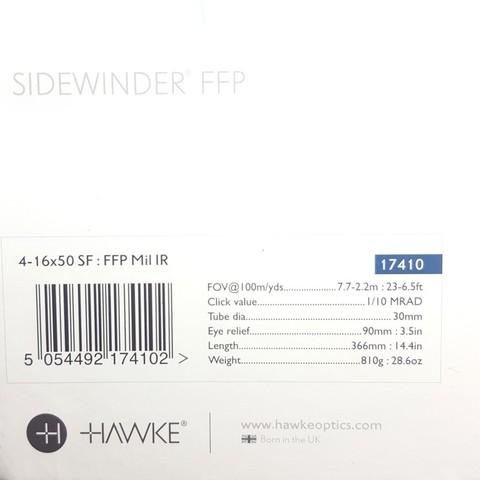 ОПТИЧЕСКИЙ ПРИЦЕЛ HAWKE SIDEWINDER FFP 4-16X50( FFP MIL)