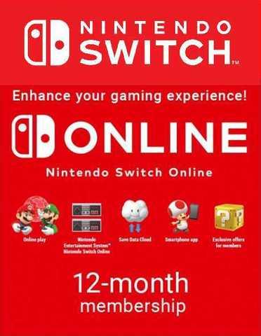Nintendo eShop Store Россия/Европа: Подписка Nintendo Switch Online Индивидуальная (абонемент на 12 месяцев, цифровая версия)