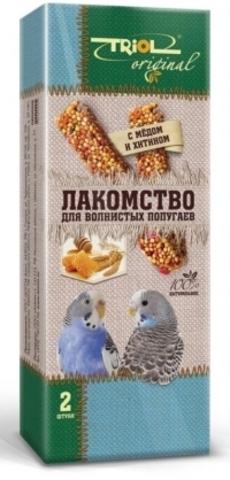 Triol Original лакомство для волнистых попугаев с медом и хитином (уп - 2шт) 55г