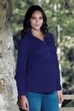 Рубашка для беременных 01323 зеленый